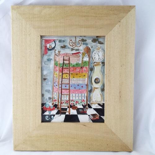 princess & the pea framed original