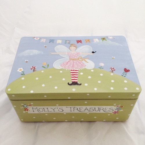 keepsake box, fairy design