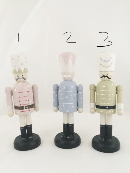 12 cm nutcracker style peg person, pastels **SOLD OUT, SORRY!**