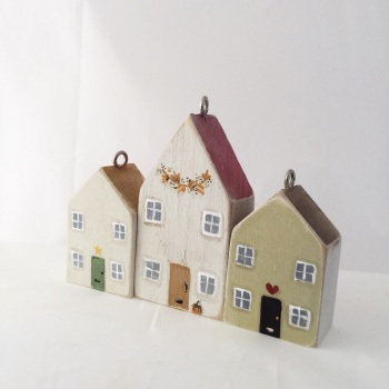 tiny house trio set autumn
