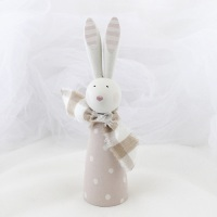 larger wooden bunny - spots