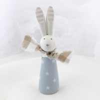 larger wooden bunny - stars