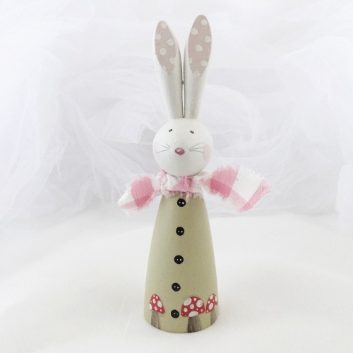 small wooden bunny - toadstool