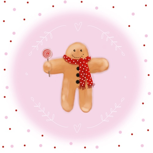 gingerbread man print