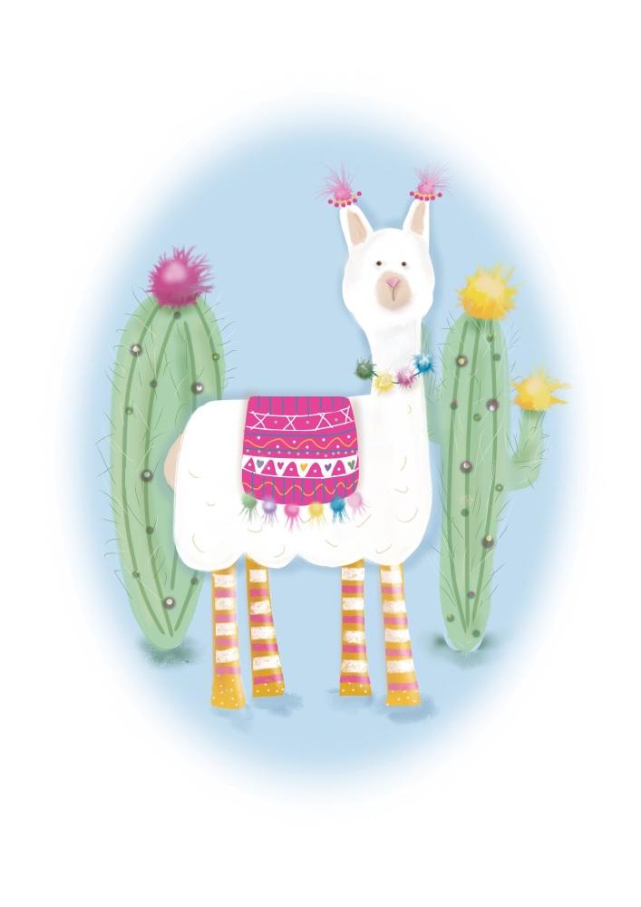 llama print - pink version
