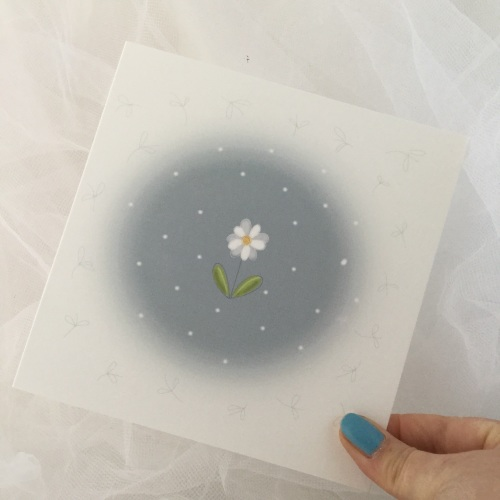 greeting card - daisy