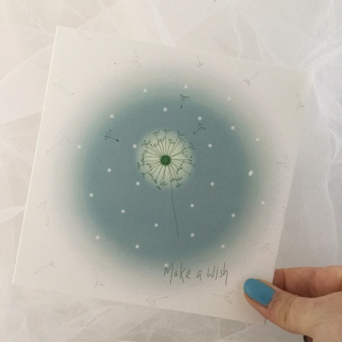 greeting card - dandelion