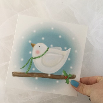 greeting card - dove