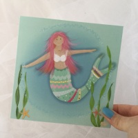 greeting card - mermaid