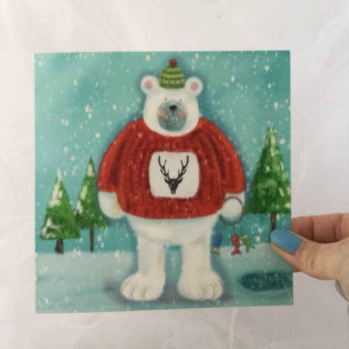 greeting card - polar bear