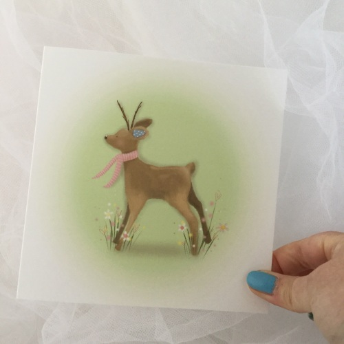 greeting card - spring fawn