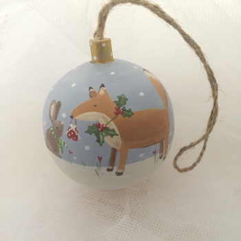 bauble fox and bunny