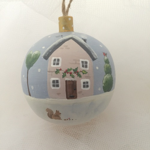 bauble house and squirrel