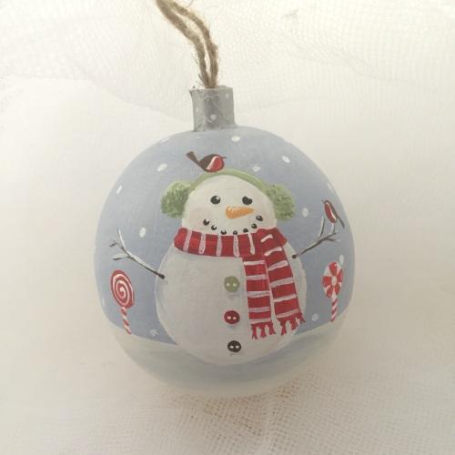 bauble snowman ear muffs