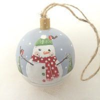 bauble snowman wooly hat