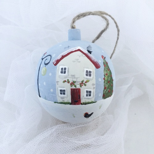 bauble house and lamp post