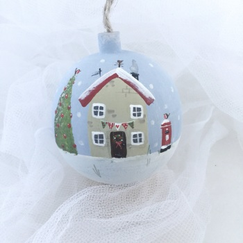 bauble house and post box