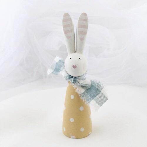 Bunny - small wooden bunny - spots