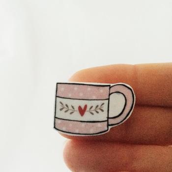 mug - pink with heart