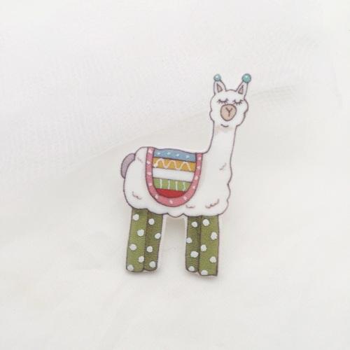 llama pin - green leggings
