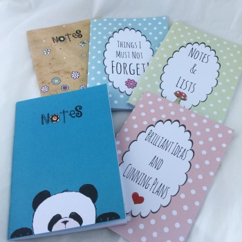 pack of 5 notebooks - mix n match