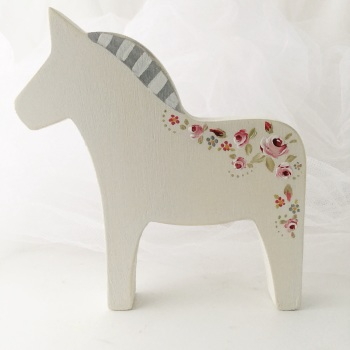 largest horse - rosie on white background