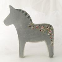 medium horse - rosie on grey background