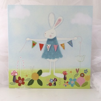 Print - Bunny with bunting