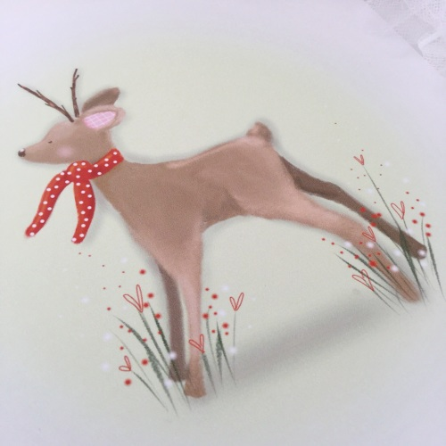 Print - Fawn, red