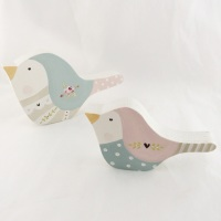 pair of bird shelfies -rose #2