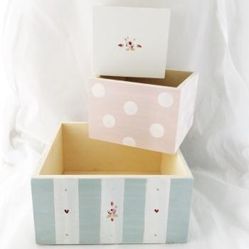 Set of 3 nesting  boxes (no lids)