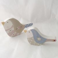 pair of bird shelfies -rose #1