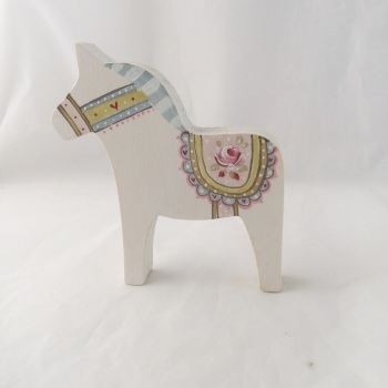Small Dala horse - rose #1