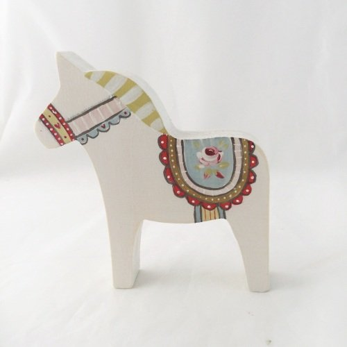 Small Dala horse - rose #2