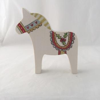 Small Dala horse - holly #1