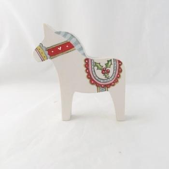 Small Dala horse - holly #2