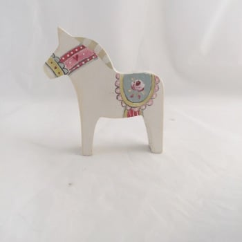 Tiny Dala horse - rose #2