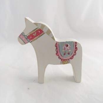 Tiny Dala horse - rose #1