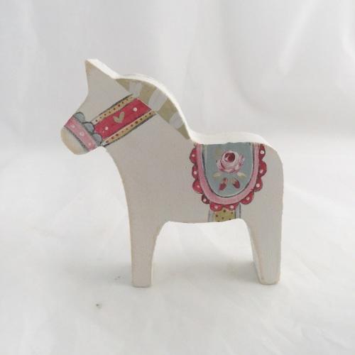 Tiny Dala horse - rose #1