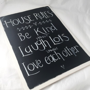 Personalised House rules sign