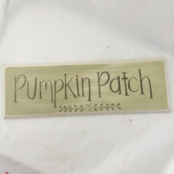 30cm sign - pumpkin patch simple heart