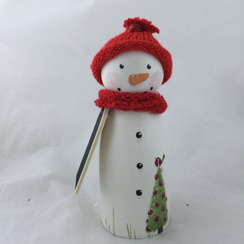 Snowman advent figure