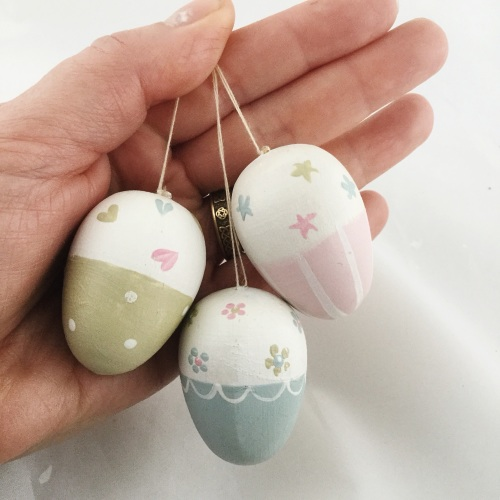 Mini dangly eggs trio
