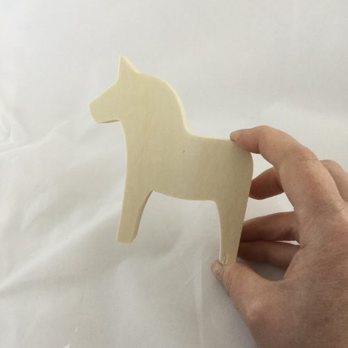 wooden horse shape small