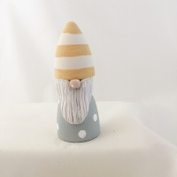 tomte/gonk  yellow stripe hat
