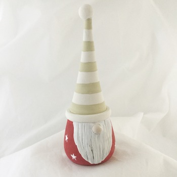 Tomte/ gnome/ gonk  - green stripe hat, red star body