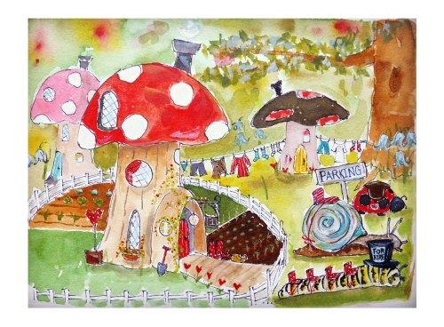 'fairy garden' print