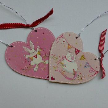 bunny/mouse keepsake heart