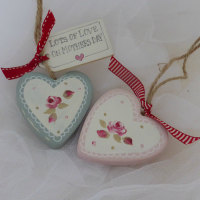 ceramic heart dangle