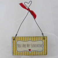 "mini ""you are my sunshine"" sign"